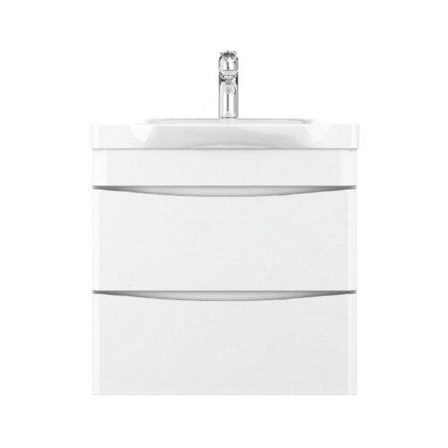 Фото - Тумба для ванной комнаты с раковиной AM.PM Like подвесная, ШхГхВ: 65х45х65 см, цвет: белый глянец тумба для ванной комнаты с раковиной am pm like напольная шхгхв 80х45х85 см цвет белый глянец