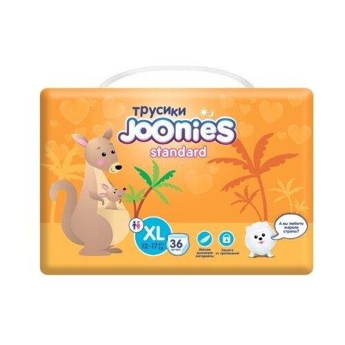 Фото - Joonies трусики Standart XL (12-17 кг), 36 шт., 36 шт., кенгуру joyo roy трусики двойные пятислойные р 100 13 17 кг 2 шт