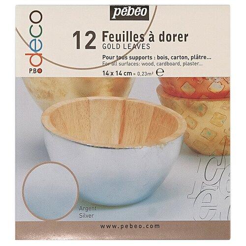 Купить PEBEO Набор листовой потали 14 x 14 см 12 шт. 094209 под серебро, Наборы для декупажа