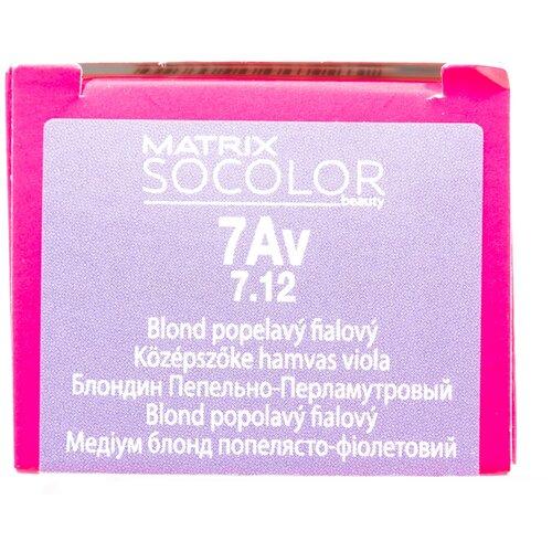 Купить Matrix Socolor Beauty стойкая крем-краска для волос, 7Av блондин пепельно-перламутровый, 90 мл