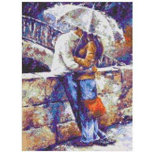 Каролинка Набор для вышивания Двое под зонтом 22 х 30.5 см (Кткн 134)