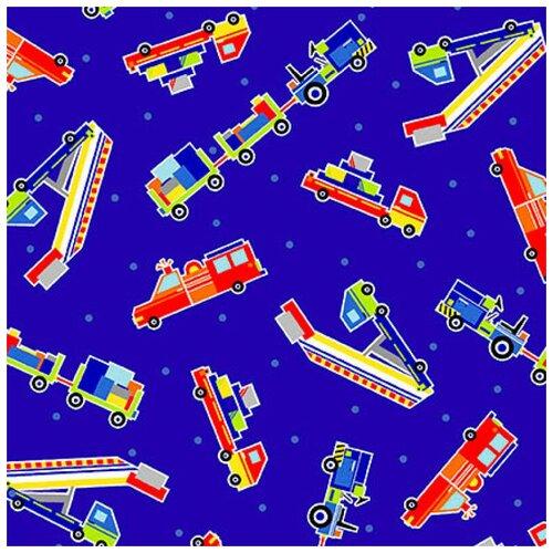 Ткань STOF PEPPY (P - W) для пэчворка 4704/18 фасовка 50 x 55 см 143±5 г/кв.м грузовики 046