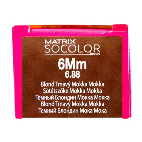 Купить Matrix Socolor Beauty стойкая крем-краска для волос, 6Mm темный блондин мокка мокка, 90 мл
