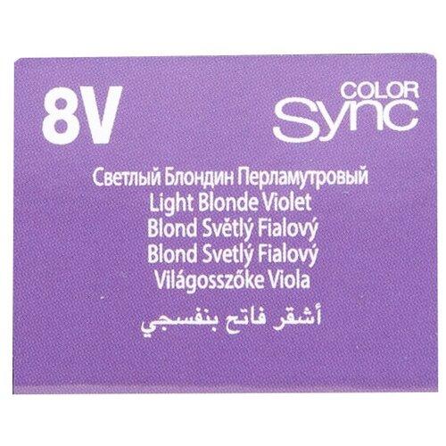 Купить Matrix Color Sync краска для волос без аммиака, 8V светлый блондин перламутровый, 90 мл