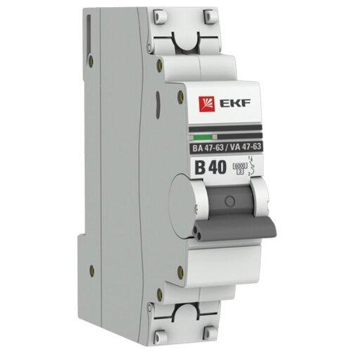 Фото - Автоматический выключатель EKF ВА 47-63 1P (B) 6kA 40 А автоматический выключатель ekf ва 47 63 1p b 6ka 50 а