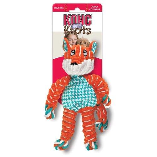 Игрушка для собак KONG Floppy Knots Fox оранжевый