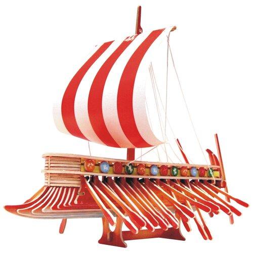 Сборная деревянная модель, цветная Финикийский парусник