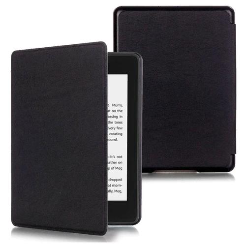 Чехол-обложка MyPads для Amazon Kindle PaperWhite 2018 из качественной эко-кожи с функцией включения-выключения и возможностью быстрого снятия черный