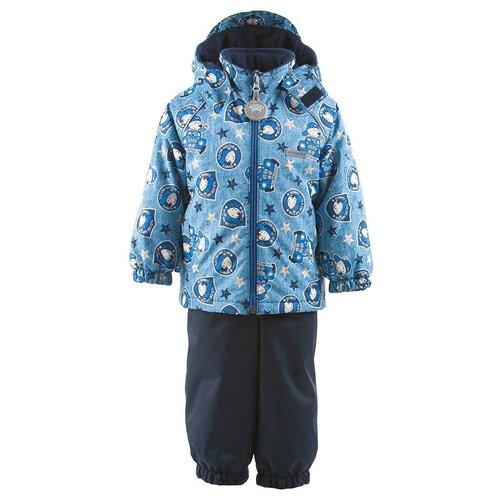Комплект для мальчиков MONTY K19014-6788, Kerry, Размер 86, Цвет 6788-синий джинс с рисунком