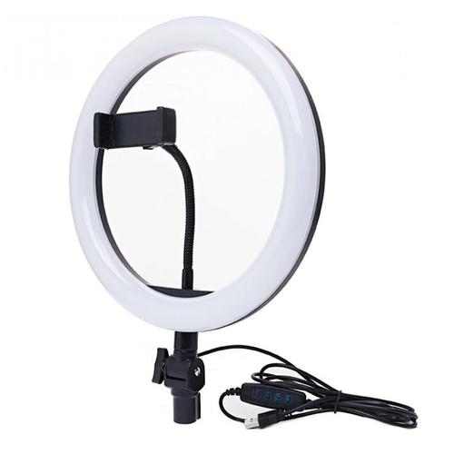 Кольцевая светодиодная лампа 26 см FLIX BRIGHT с держателем для смартфона (без штатива)