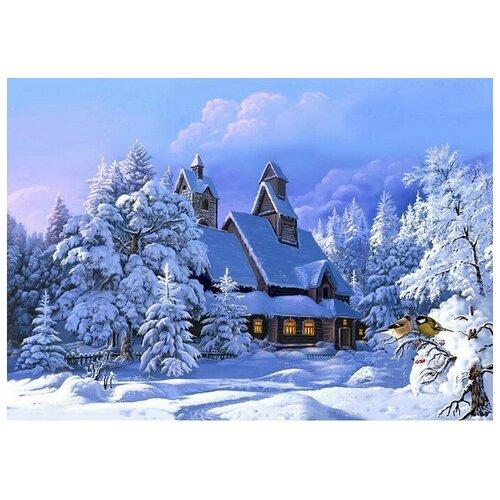 Купить Алмазная мозаика Зимнее утро, картина стразами Molly 40x50 см., Алмазная вышивка
