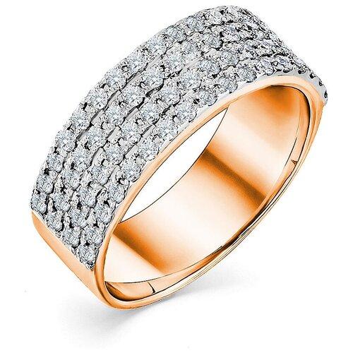 Мастер Бриллиант Кольцо с 68 бриллиантами из красного золота 1-107-529, размер 17.5