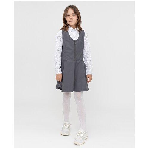 Купить Сарафан Button Blue размер 134, серый, Платья и сарафаны
