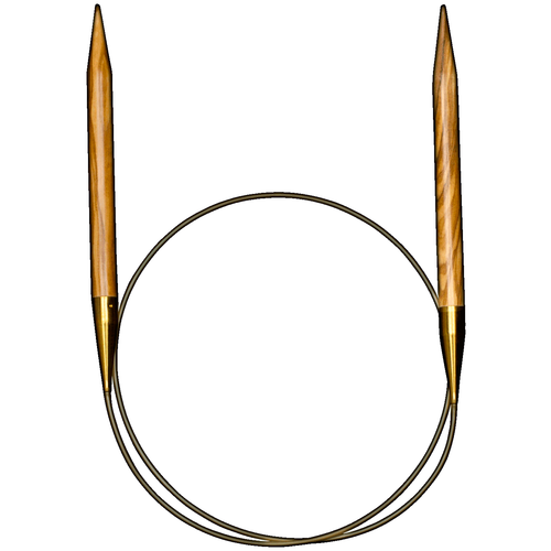 Спицы ADDI круговые из оливкового дерева 575-7, диаметр 10 мм, длина 100 см, дерево спицы addi круговые из оливкового дерева 575 7 диаметр 7 мм длина 100 см дерево