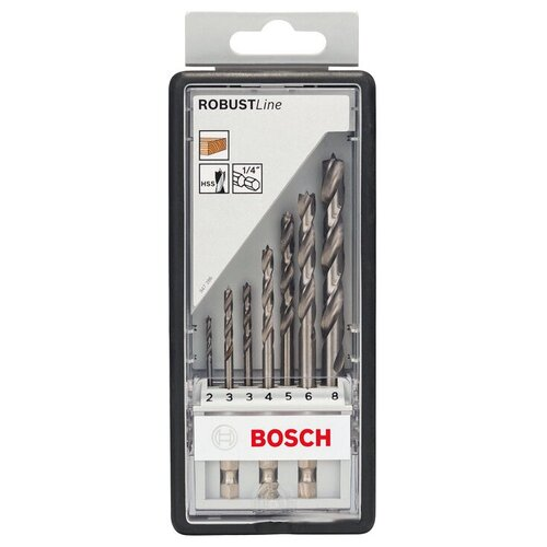 Фото - Набор сверл BOSCH Robust Line 2.607.019.923 набор сверл bosch robust line multi construction 2 607 010 543