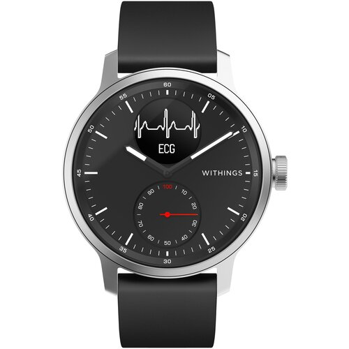 Смарт-часы Withings ScanWatch 42mm with Silicone Band Black чёрные