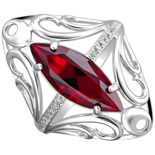 Фото - Эстет Кольцо с кристаллом swarovski и фианитами из серебра С22К250168, размер 18.5 эстет кольцо с кристаллом swarovski и фианитами из серебра с22к250029 размер 17 5