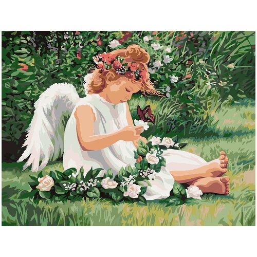 Купить Картина по номерам Милый Ангел, 90 х 120 см, Красиво Красим, Картины по номерам и контурам