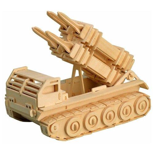 сборная модель мир деревянных игрушек ракетная установка п052 Сборная модель Чудо-Дерево Ракетная установка (P052)