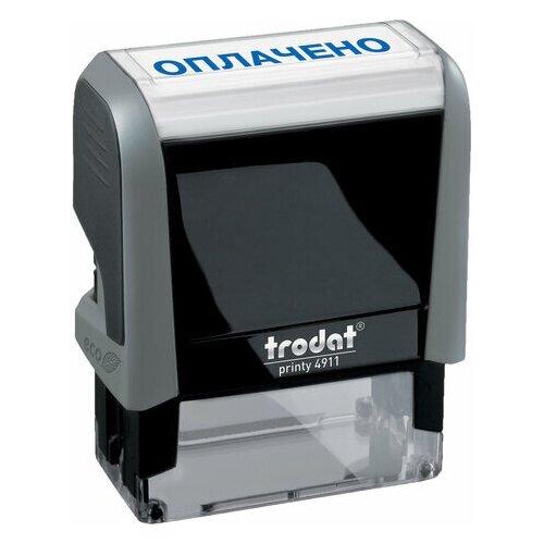 Фото - Штамп стандартный оплачено, оттиск 38х14 мм, синий, TRODAT 4911P4-1.2, 53559, 1 шт. штамп получено оттиск 38 14мм синий trodat ideal 4911 db 1 1 ш к 14863 161486 1 шт