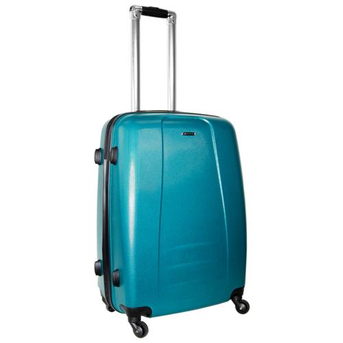 Чемодан Rion+, 418/3 металлик зелёный 24 чемодан rion 418 3 62 л голубой