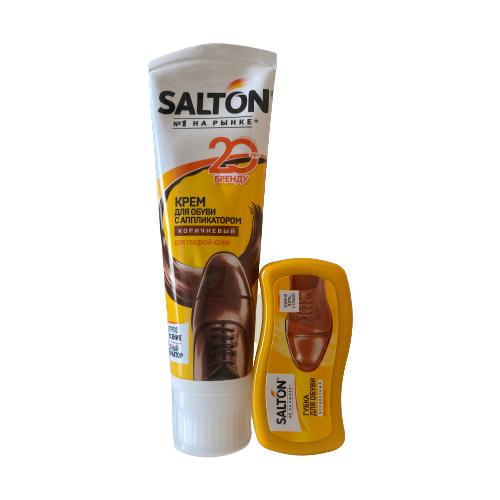 Фото - Крем для обуви и губка Salton крем для обуви salton standart черный 50 г