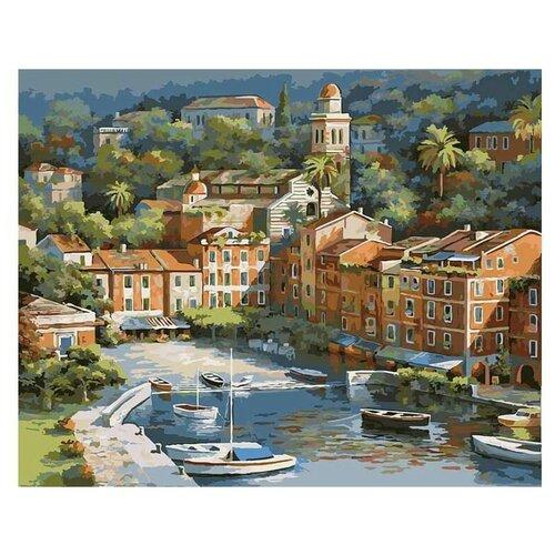 Купить Картина по номерам Солнечная Италия, 40x50 см. Белоснежка, Картины по номерам и контурам