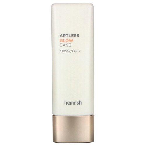 Heimish База под макияж с эффектом сияния Artless Glow Base SPF50+/PA+++ 40 мл розовая база под макияж eco soul peach base spf44 pa база 30мл