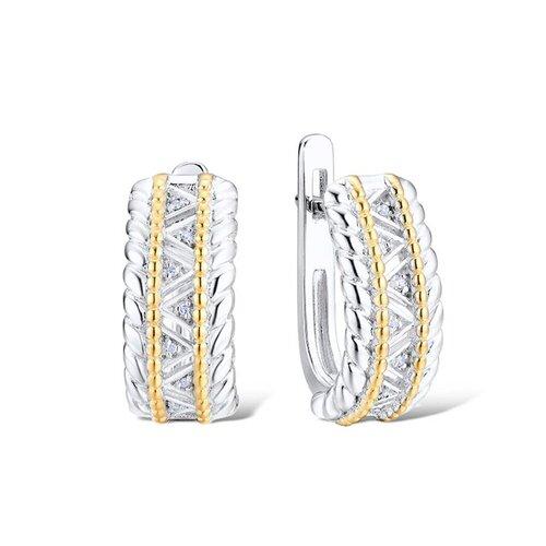 VALTERA Серьги с бриллиантами из серебра 117786 серьги из серебра valtera 41997