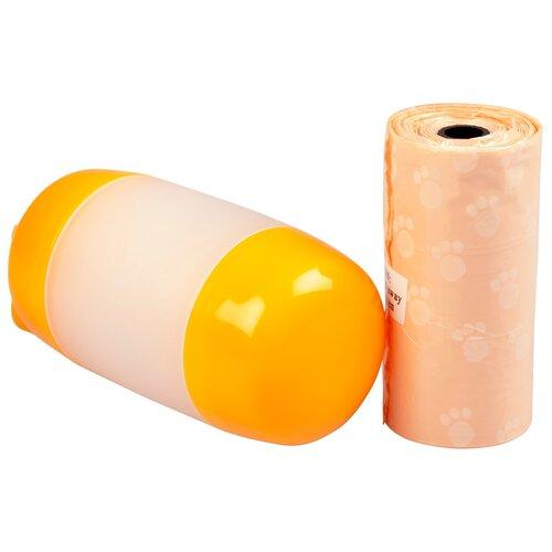 Контейнер для гигиенических пакетов DUVO+, оранжевый, 10см, + 2x20шт пакетов (Бельгия)