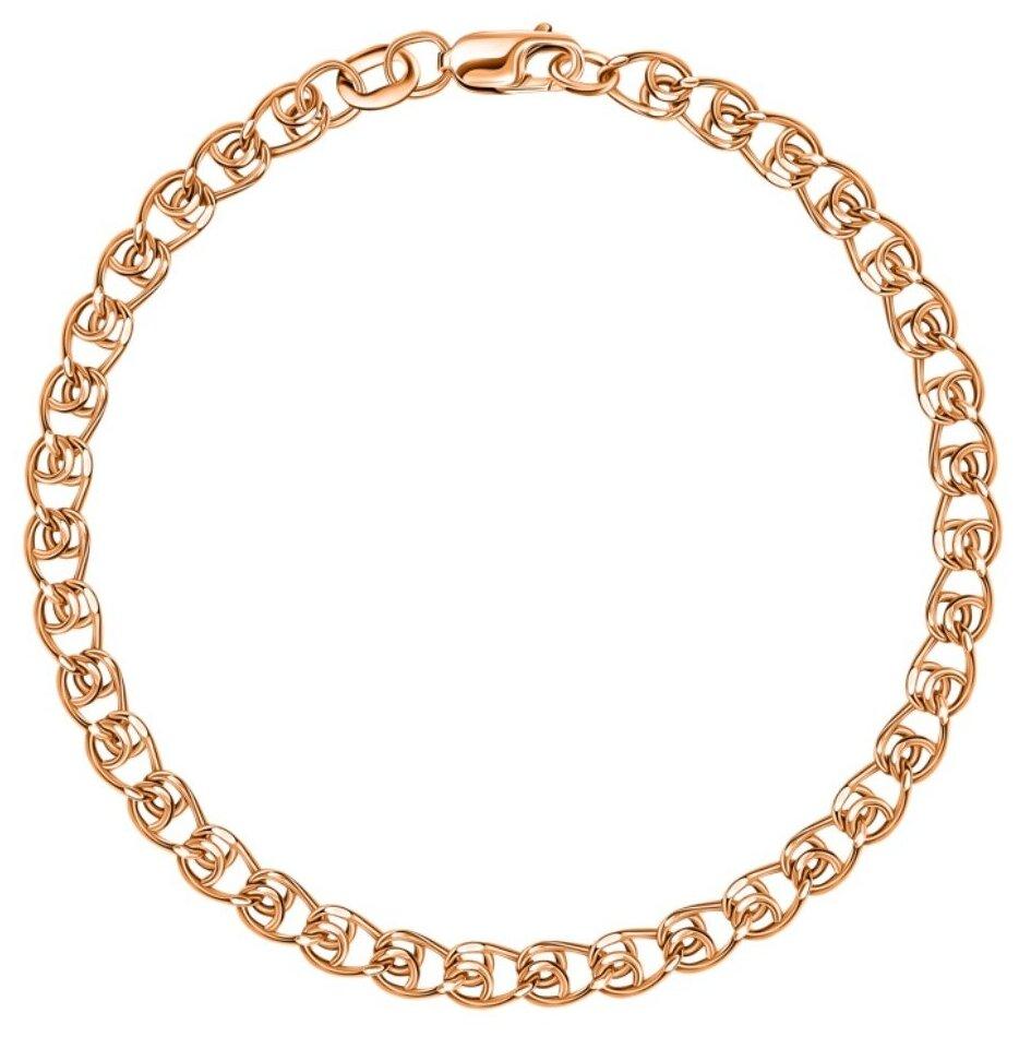 КРАСЦВЕТМЕТ Браслет золотой плетения LOVE НБ12-087ПГ — купить по выгодной цене на Яндекс.Маркете
