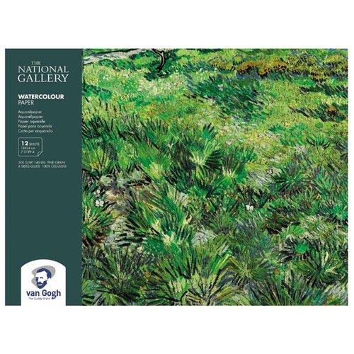 Купить Блок для акварели Van Gogh National Gallery 300гр/м.кв 18х24см 12л склейка по 4 сторонам Royal Talens, Альбомы для рисования