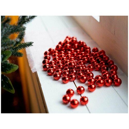 Бусы пластиковые гигант, цвет: красный, 20 мм, 2,7 м, Kaemingk