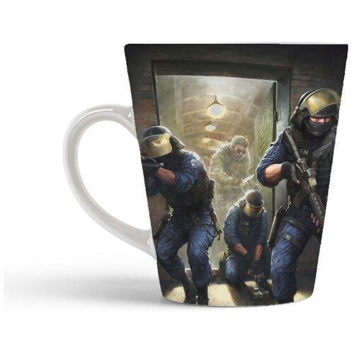 Кружка-латте CoolPodarok Контра Кс Кс Го 1 6 Соурс Counter Strike Cs Cs Go Cs 1 6 Source (ворвались в помещение)
