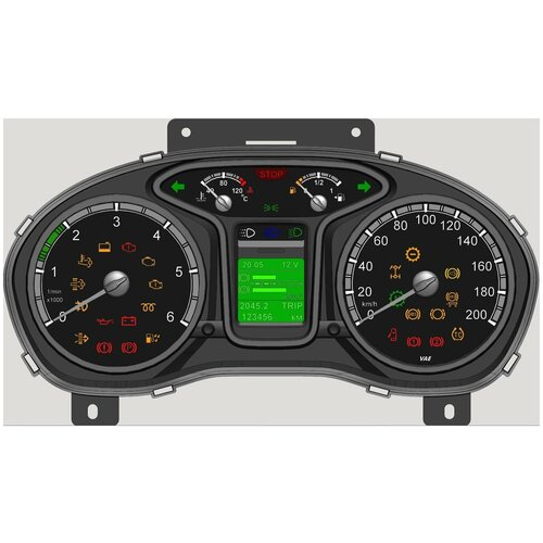 Комбинация приборов дв 5344 ЕВРО-5 ту37.453.227-2013 ГАЗ для ГАЗ ГАЗон Next (2013 - )