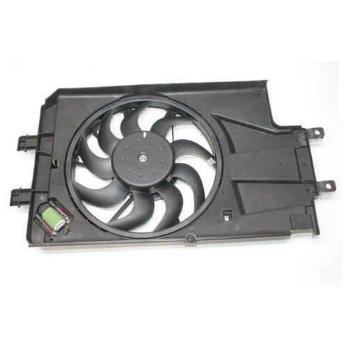 Вентилятор охлаждения радиатора ВАЗ 2190 Гранта 10--, Гранта 15--, ВАЗ 1118 Калина II 13-- с кожухом (Luzar) (4)
