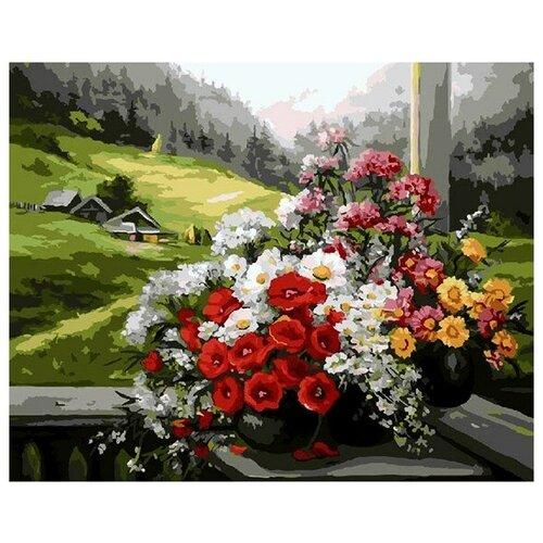 Картина по номерам GX 9500 Букет на окне (худ. Anca Bulgaru) 40*50 картина по номерам gx 9871 уточки и лодочка 40 50