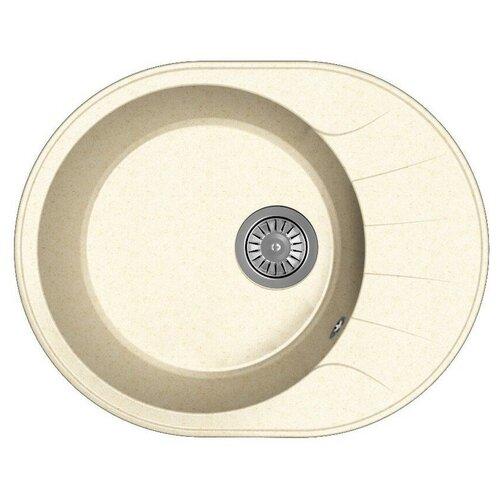 Мойка для кухни Dr. Gans Smart, Виола-580, латте, камень, врезная, овальная (46441)