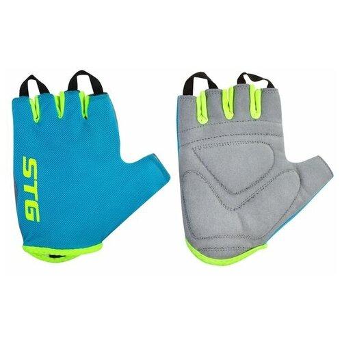 Перчатки STG, AL-03-418, летние,голубые/салатовые