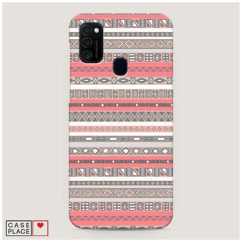 Чехол Пластиковый Samsung Galaxy M21 Ацтеки