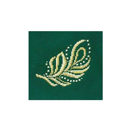 Набор для вышивания сделай своими руками арт.З-25 Золотые украшения.Перо 12х12 см