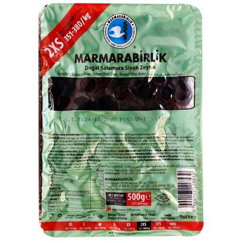 MARMARABIRLIK Маслины черные с косточкой 2XS 500гр itlv маслины super с косточкой