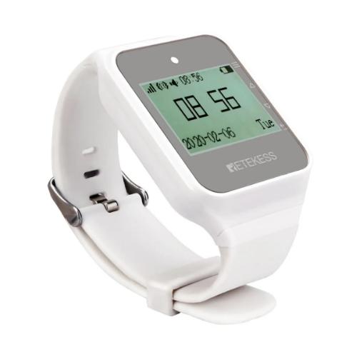 Часы-пейджер для персонала Retekess TD108W белые