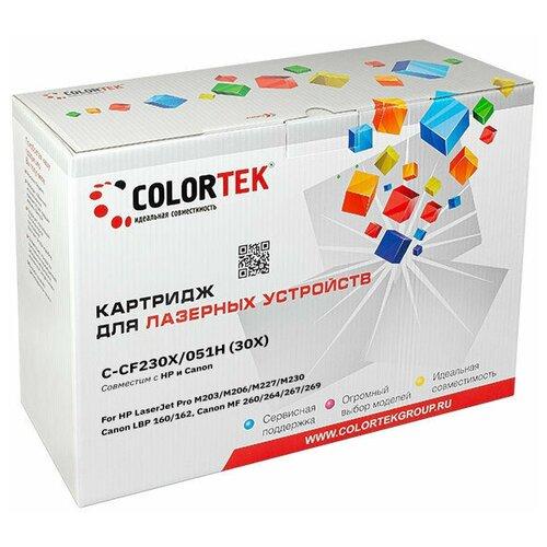 Фото - Картридж лазерный Colortek CT-CF230X/C-051H для принтеров HP и Canon colortek ct cf217a 17a