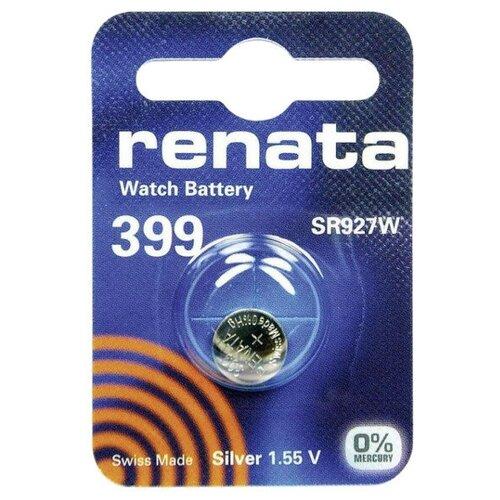 Фото - Батарейка R399 - Renata SR927W (1 штука) батарейка cr1620 renata 1 штука
