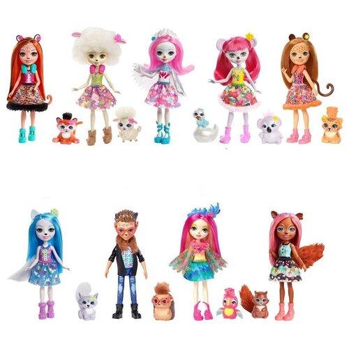 enchantimals кукла felicity fox Кукла Enchantimals с питомцем 15см,FNH22