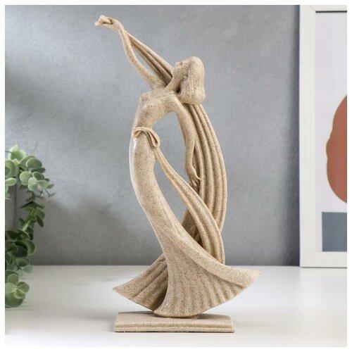 Сувенир полистоун Девушка с лентами песочный 29х14х7 см 5129745