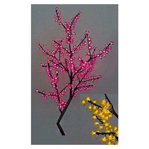 Светодиодное дерево сакура, 90 см, 240 желтых LED ламп, уличное, BEAUTY LED