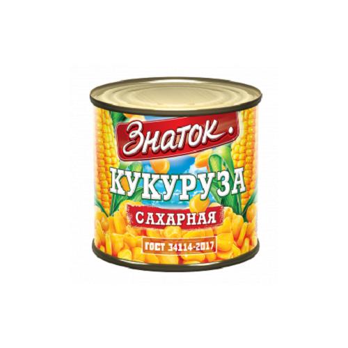 Кукуруза сладкая высший сорт Знаток ГОСТ -425 мл) ж/б