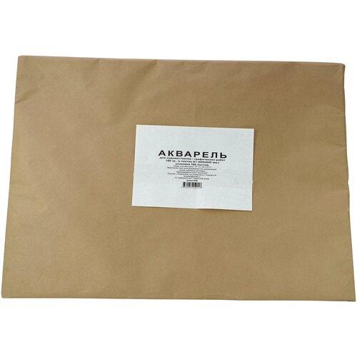 Акварельная бумага А1 600х840 180 гр. 100 листов упаковка крафт бумага